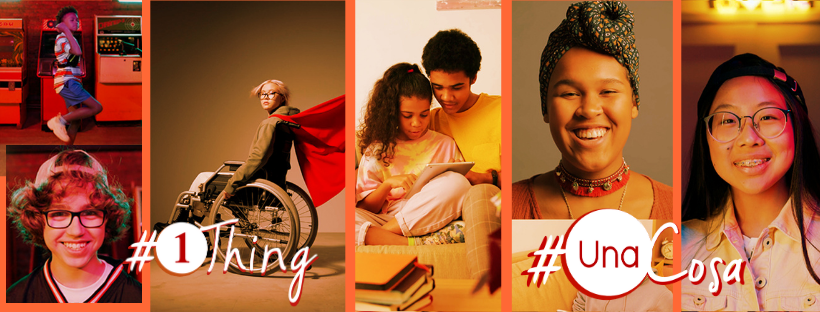 images of youth with #1Thing logo