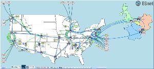 ESnet Map