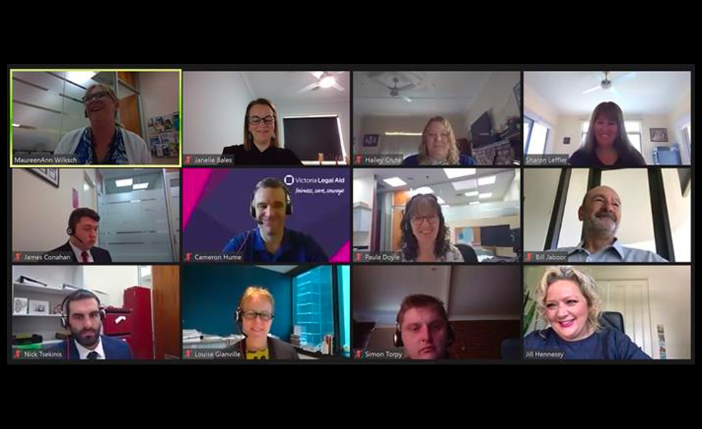 The Horsham office in a video meeting with the Attorney-General