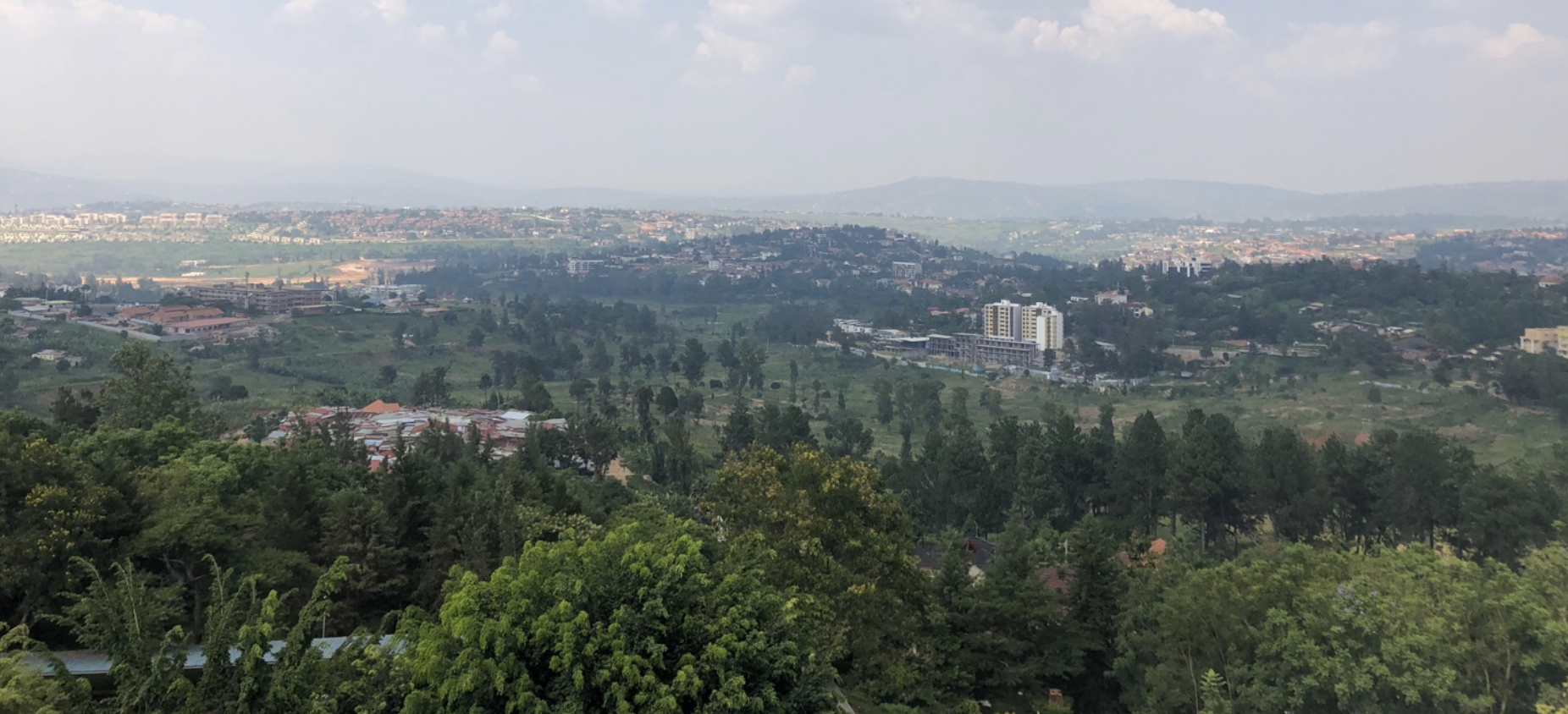 View of Kigali from a hilltop
