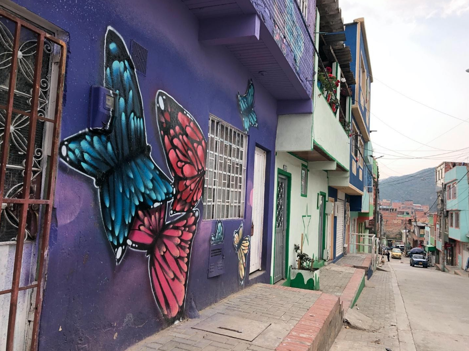 Mural of a butterfly