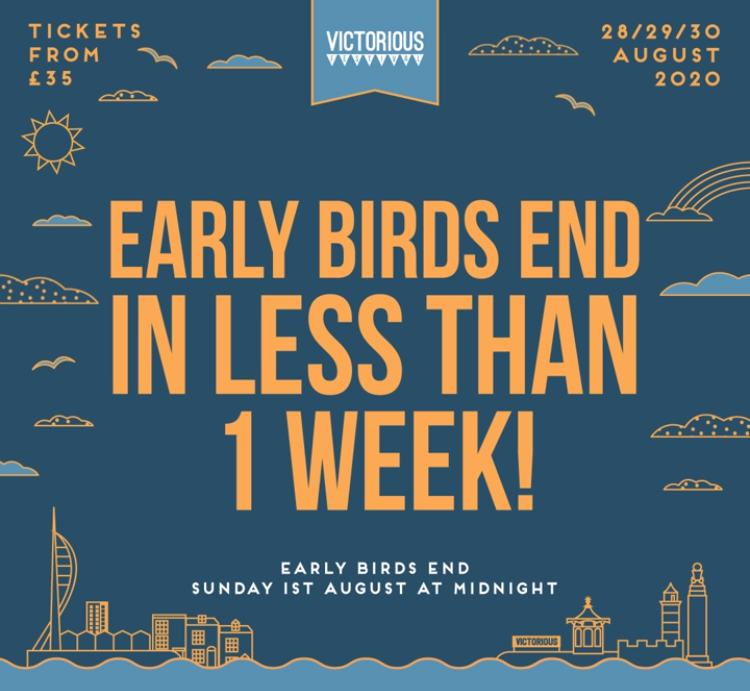 Victorious Festival: Early Bird Ending & Places to Stay! 2