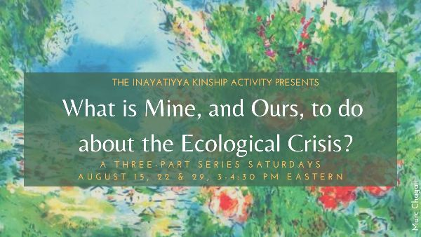 What is Mine, and Ours, to Do about the Ecological Crisis? A Three-Part Series Hosted by the Kinship Activity