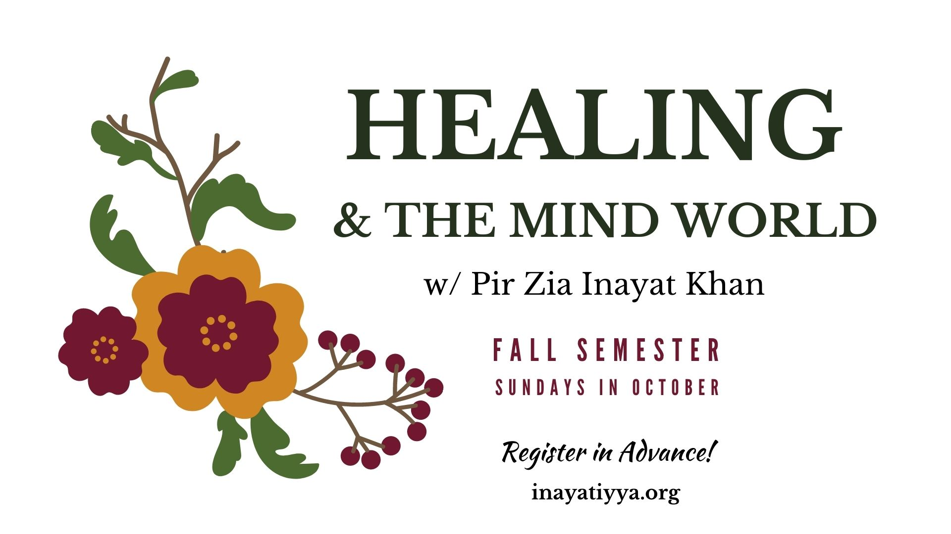 Healing & the Mind World Fall 2020