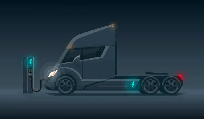 Rendering of an EV truck