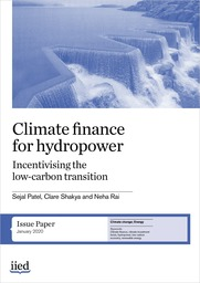Climate finance for hydropower