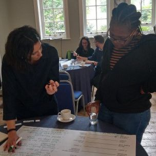 In the 'audience personas' session we worked together to drill down into the detail of who our audiences are, their goals and what they need from us as communicators (Photo: Anne Schulthess, IIED)