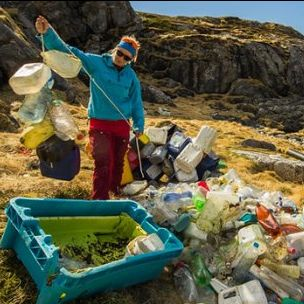 A surprisingly large number of the plastic bottles and cans found along the shoreline in the Norwegian Arctic are of foreign origin. What can businesses do to prevent this? (Photo: Bo Eide, via Flickr, CC BY-NC-ND 2.0)
