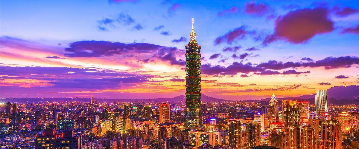 Uitzicht op 101 Tower in Taipei