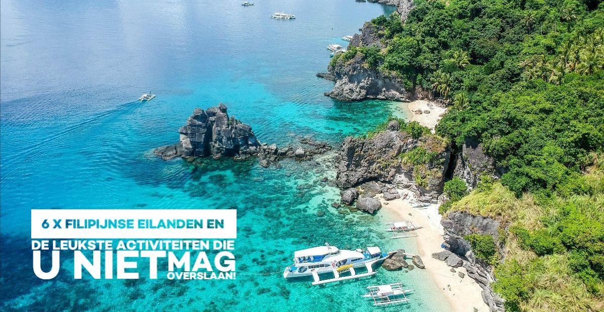 Zee en strand op Apo Island - Filipijnen