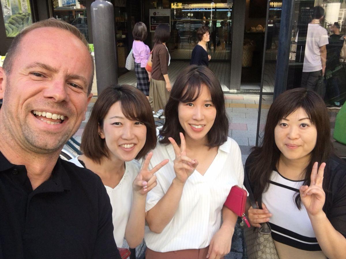 Ruud in Tokyo tijdens zijn reis door Japan