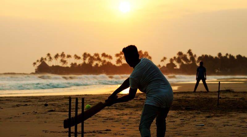 Cricket spelen in Sri Lanka