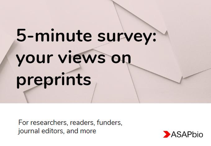 Banner for ASAPbio survey