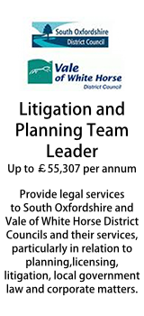 South Oxfordshire and Vale of White Horse Councils - Litigation and Planning Team Leader
