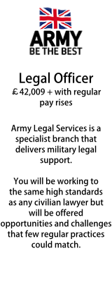 The Army - Legal Officer