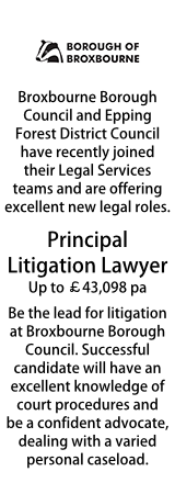 Broxbourne - Deputy Head of Legal Services and Principal Litigation Lawyer