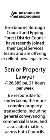 Broxbourne - Senior Property Lawyer Part Time