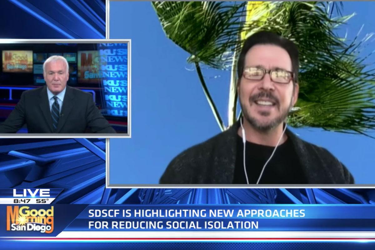 SDSCF board member Derek Quackenbush talks to KUSI about was to reduce social isolation