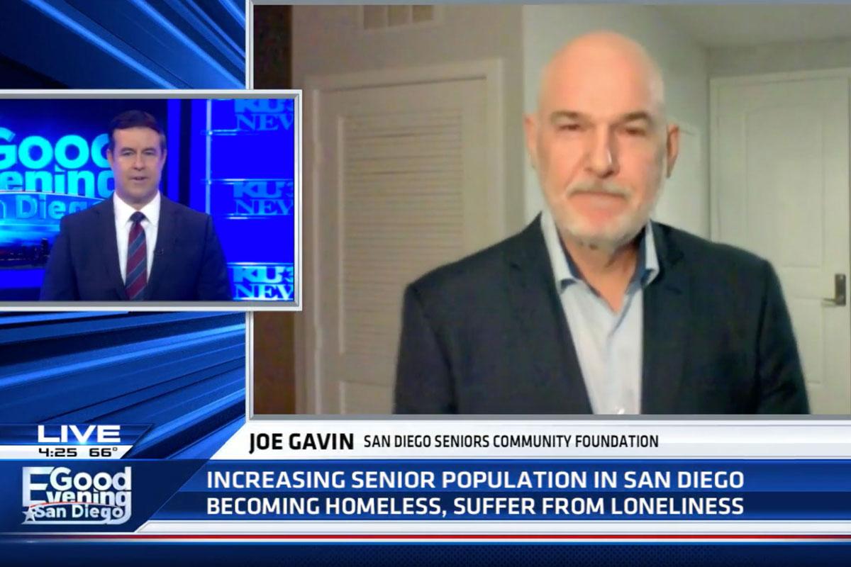 Joe Gavin appears on Good Evening San Diego to discuss senior homelessness