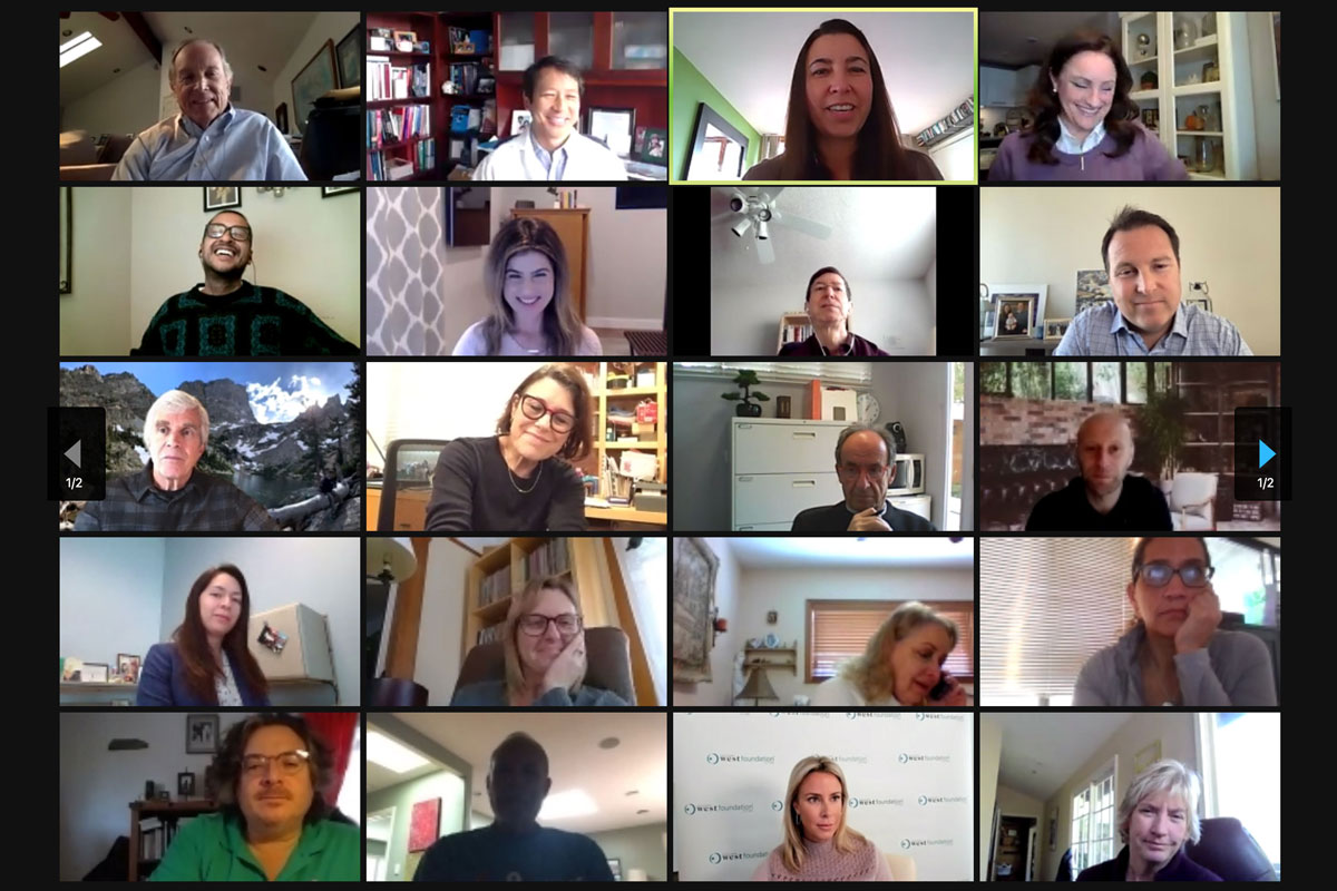 Screenshot of roundtable event held on Zoom