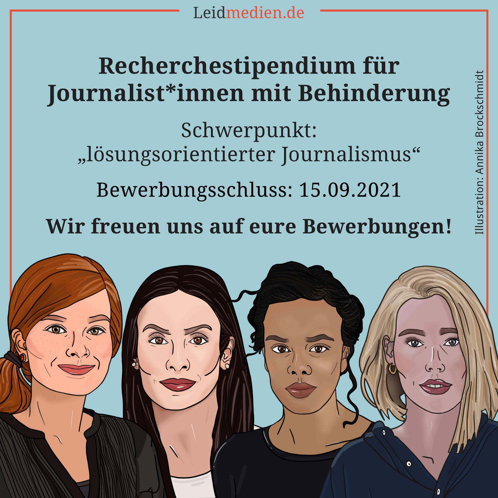 Recherchestipendium für Journalist*innen mit Behinderung 2021