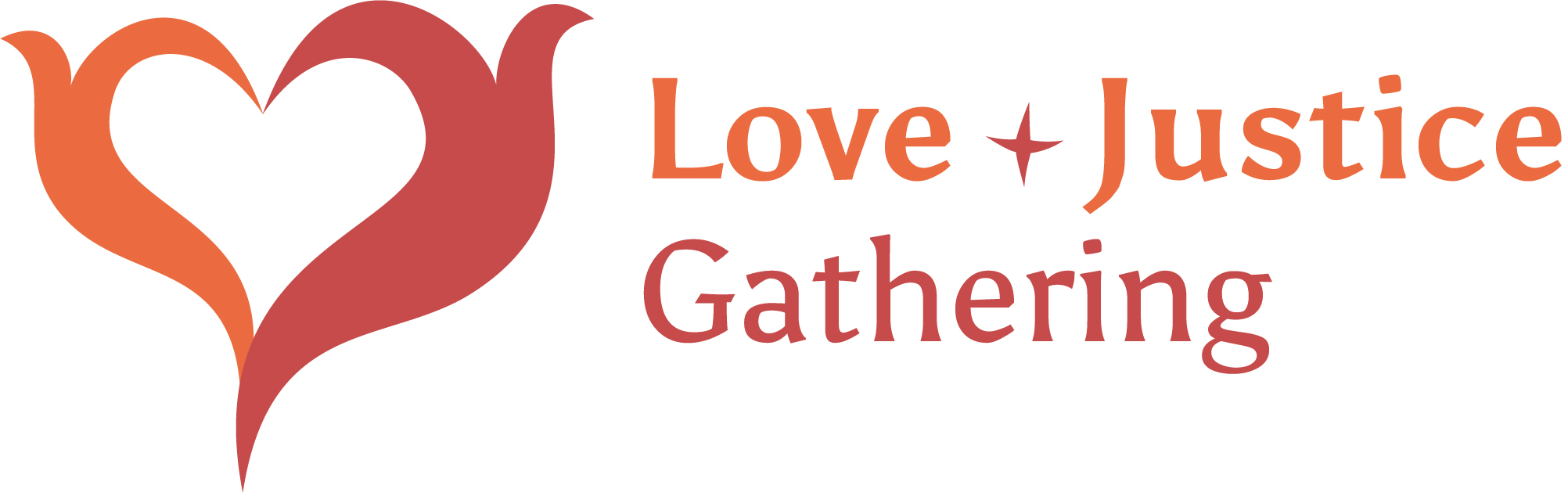 Logo for the gathering, featuring red and orange flames making a heart shape.