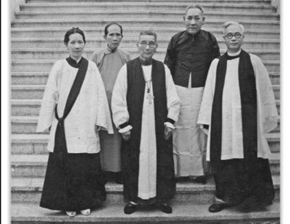 Photograph of Florence Li Tim Oi at her ordination as Deaconess.
