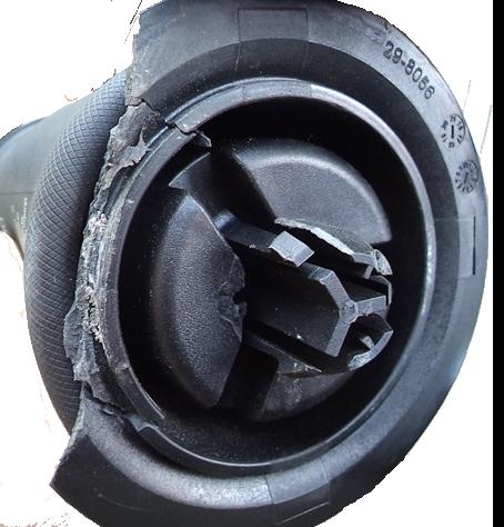 Broken lower piston
