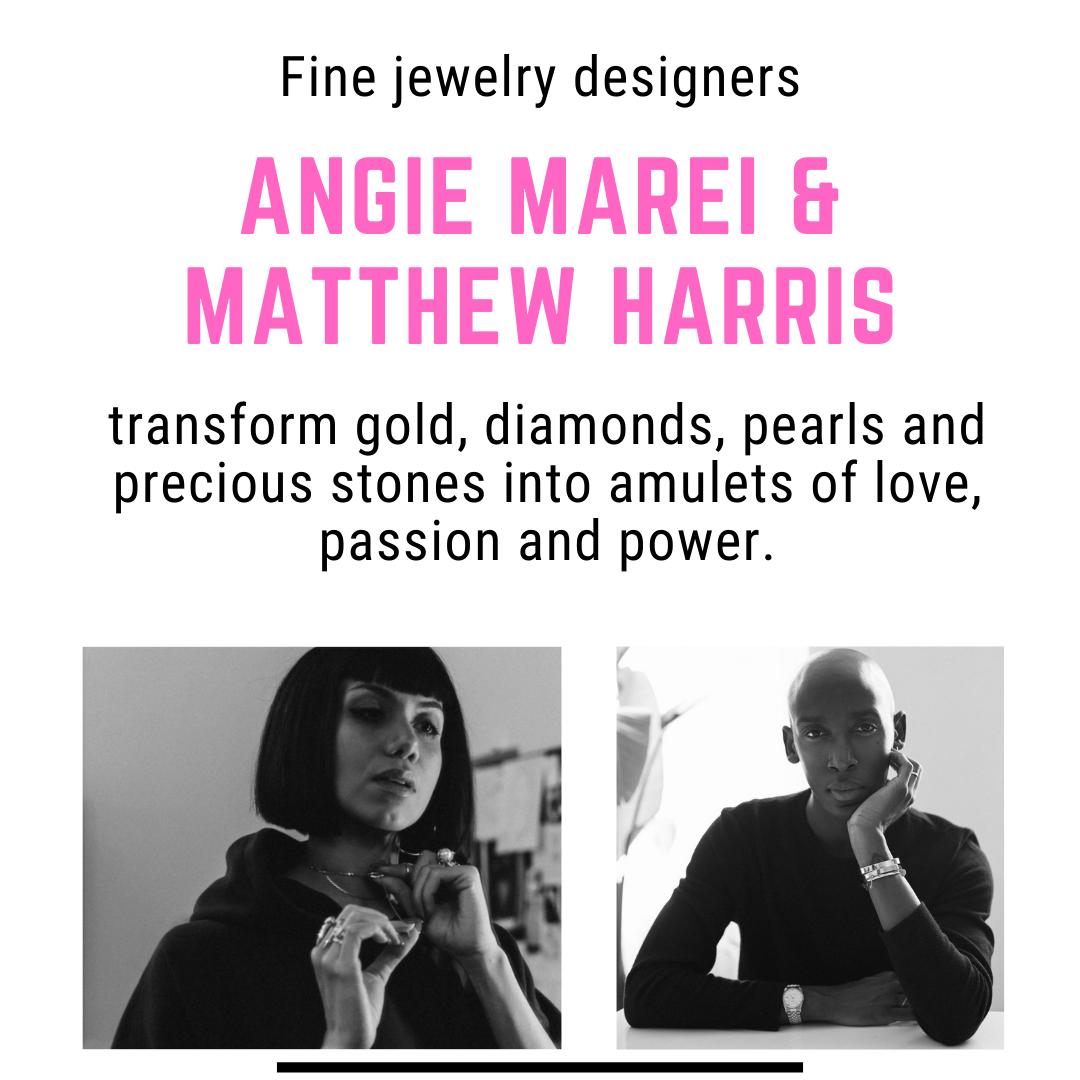 Angie Marei and Matthew Harris headshots