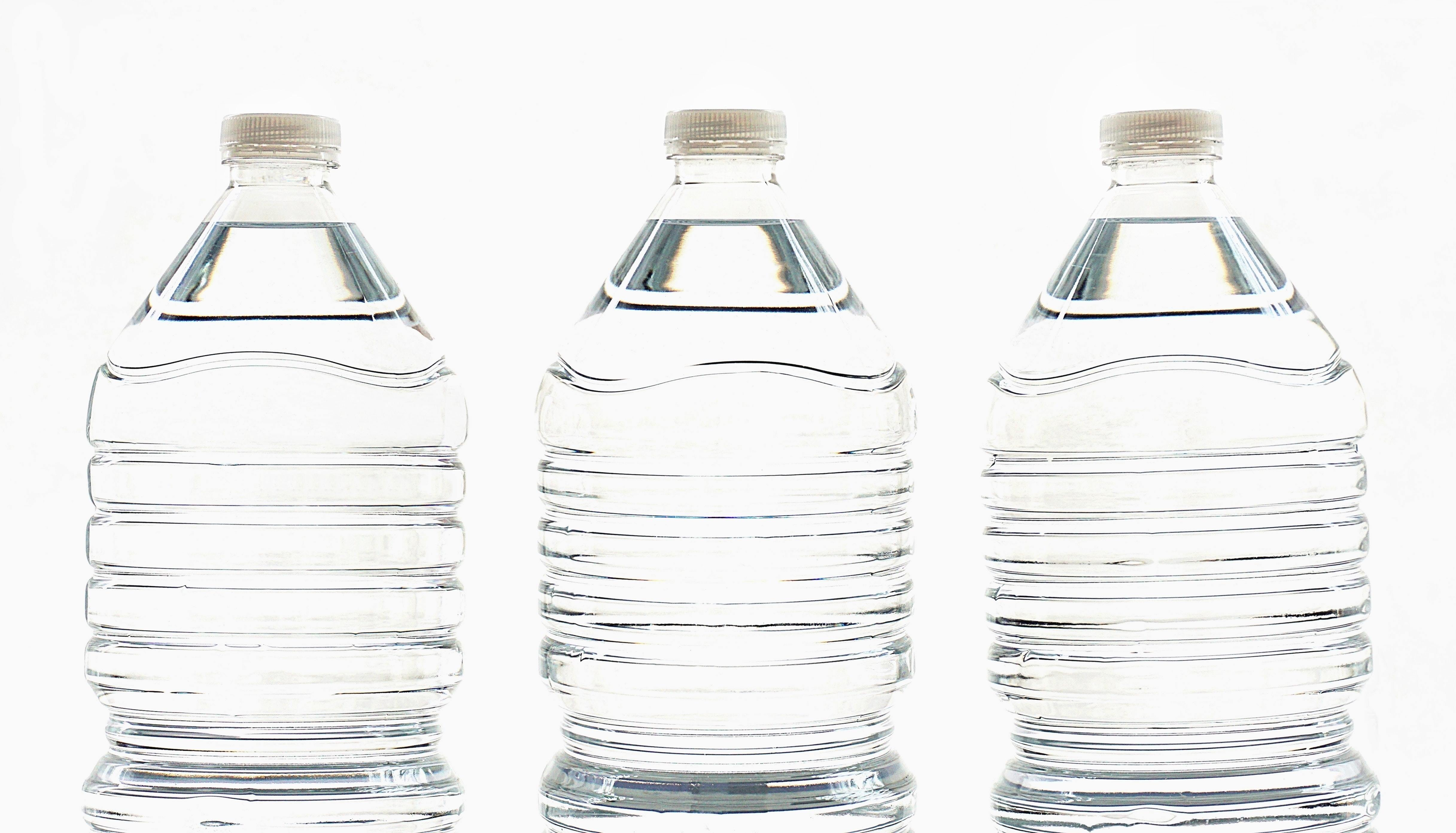 Stock image of water bottles.