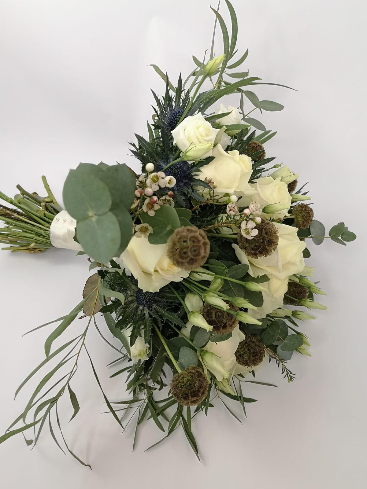 White Winter Wedding Handtied
