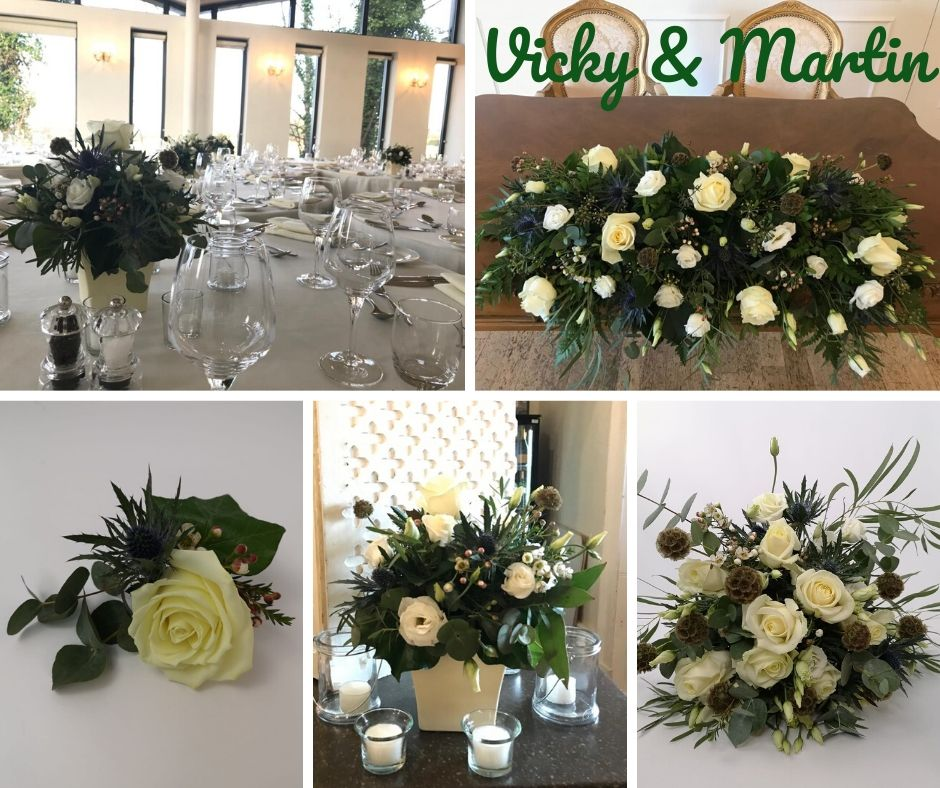 Winter Wedding Flowers at West Tower